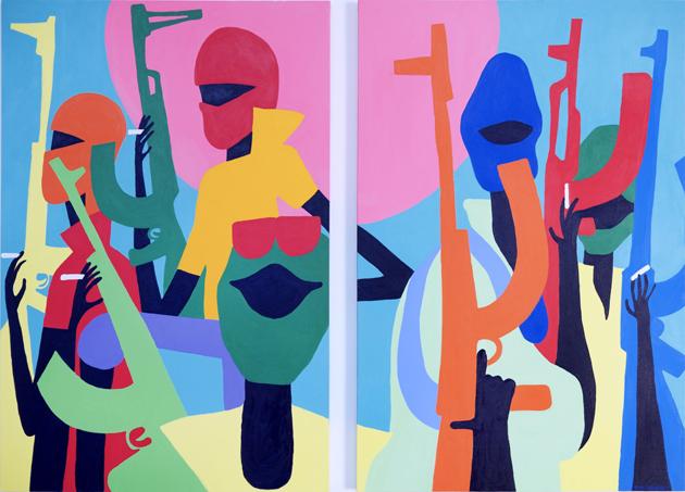 TOJA Pirates, 2013. Acrylic on canvas. 182,5 x 122 cm._71.85 x 48.03 in. each