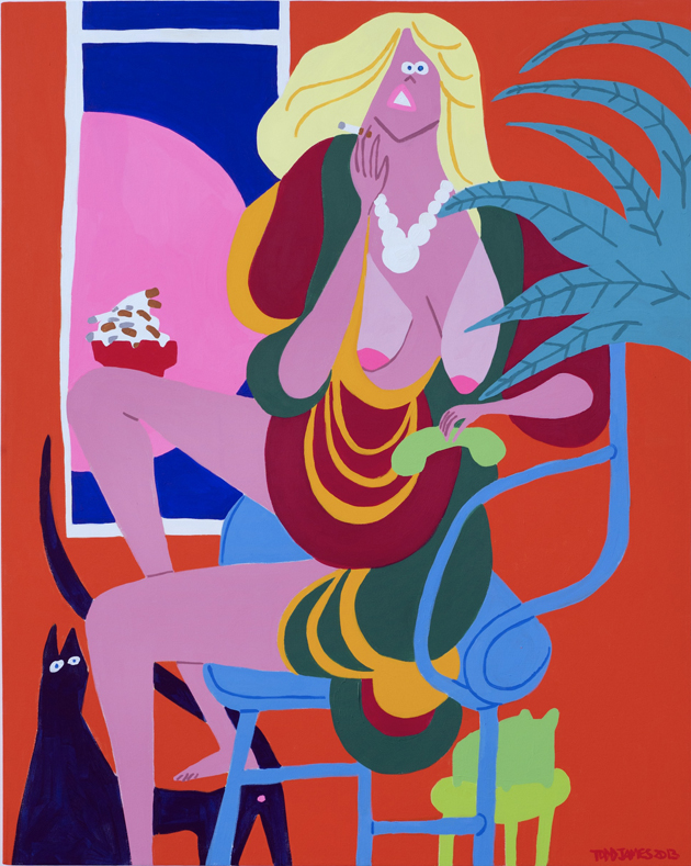TOJA Untiled, 2013. Acrylic on canvas. 152 x 122 cm._59.84 x 48.03 in
