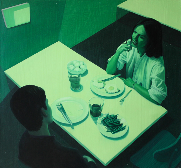 Green Dinner 26 x 24 inches
